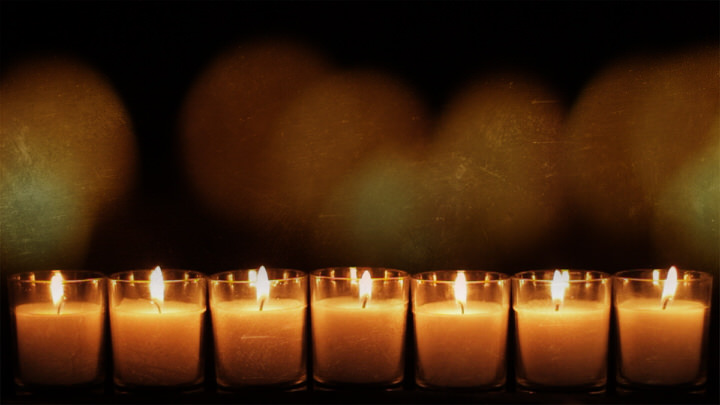 Row of 7 Candles