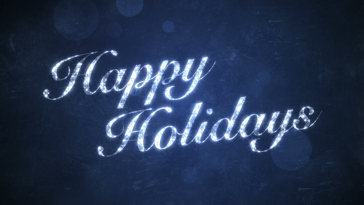 Happy Holidays on Blue