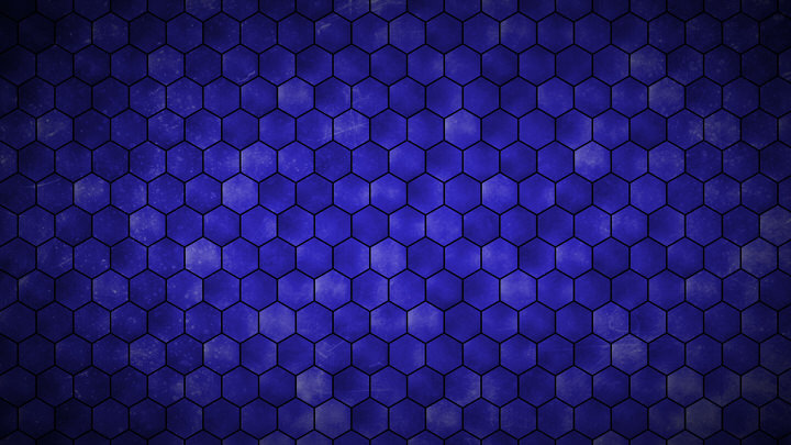 Blue Hexagon Grid