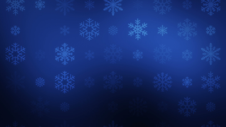 Falling Snowflakes on Blue